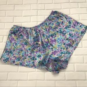 Vintage Purple blue floral sleep shorts